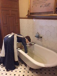 la zona del baño en el castillo