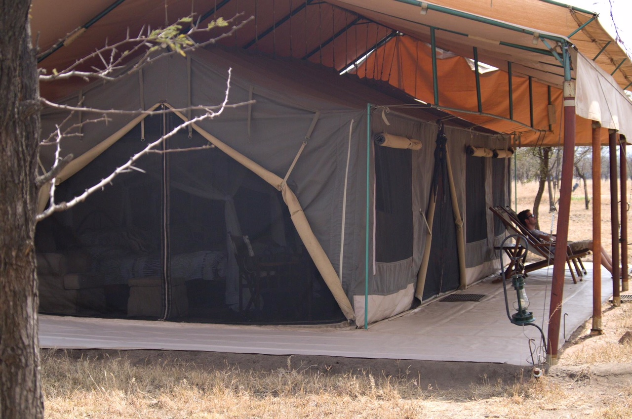Descansando en Serengeti Bush Camp