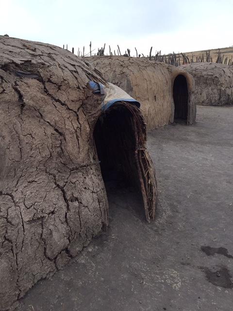 casa de un poblado masai