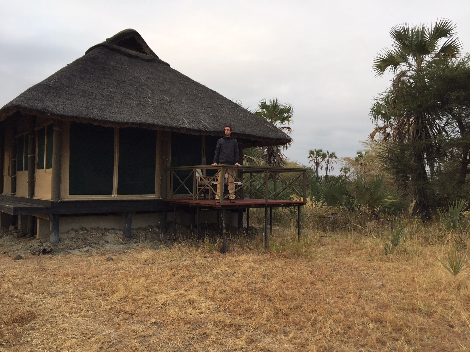 Terraza de la habitación de Maramboi Tended Camp