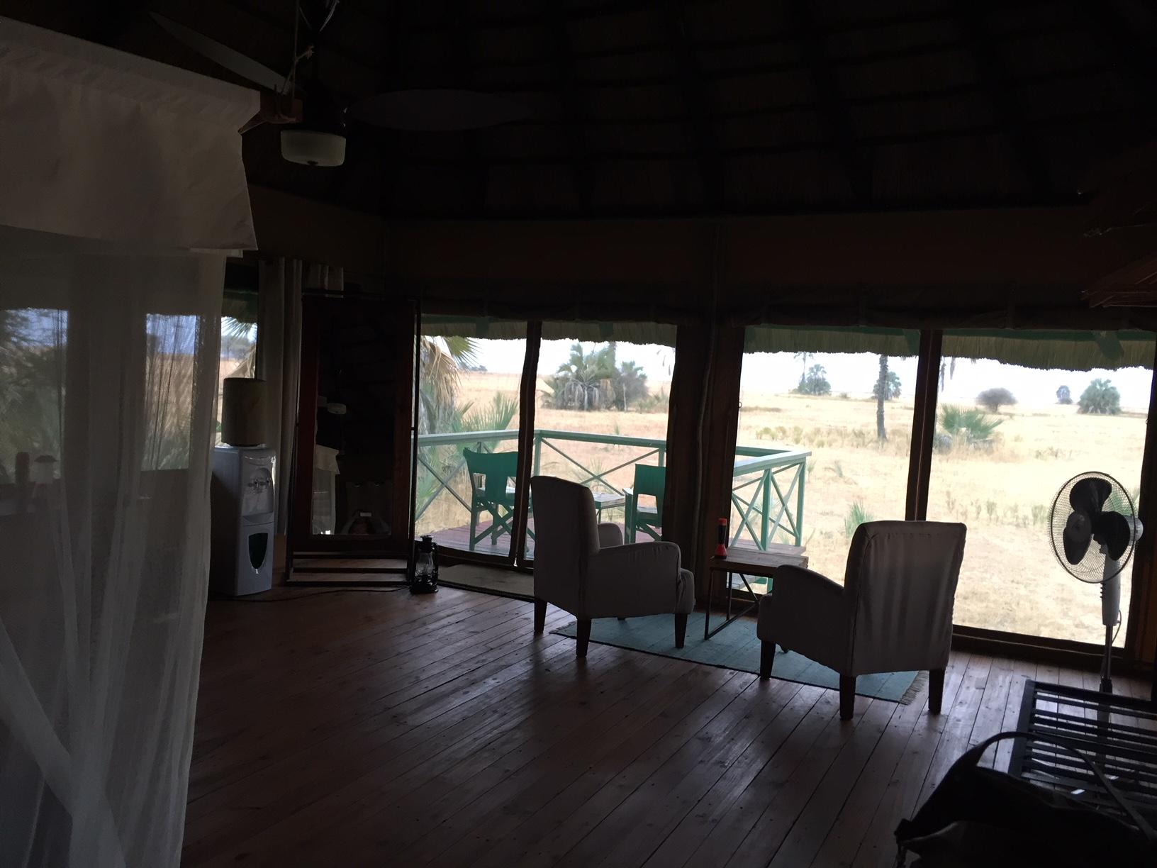 Vistas desde el interior de la habitación en Maramboi Tended Camp