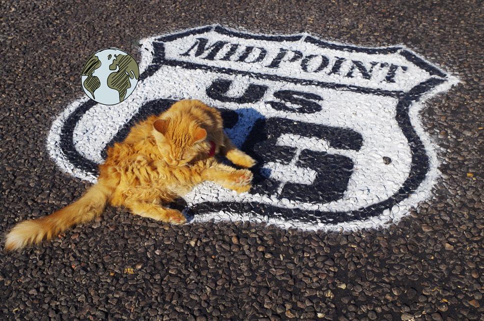 la mascota del Midpoint de la ruta 66