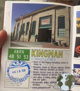 Hoja de kingman en el pasaporte de Arizona