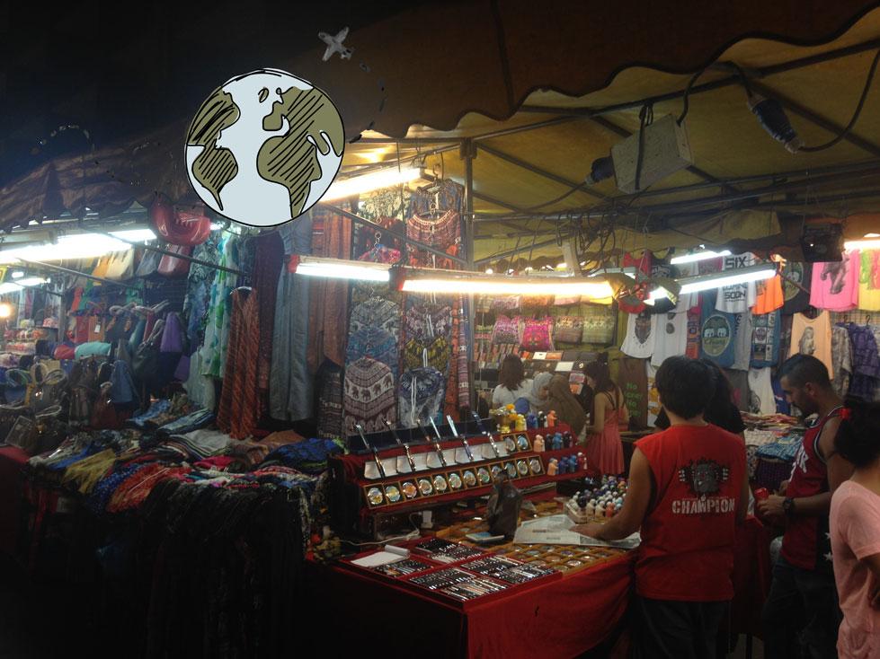 puesto mercado nocturno Patpong