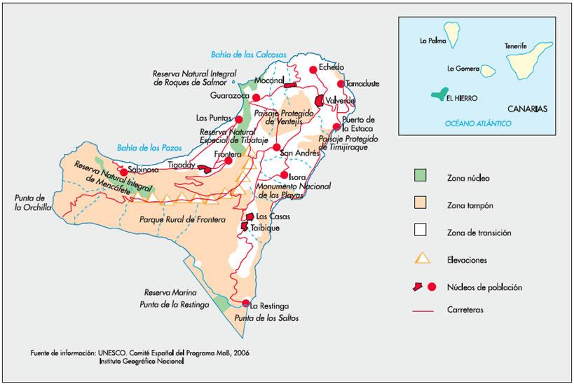 Mapa De El Hierro.Rutas En Coche Por El Hierro Que No Puedes Perderte